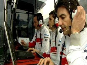 Geeks at work at the F1