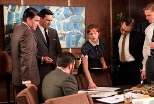 Mad Men - Season 2, episode 201 Elisabeth Moss as Peggy Olson courtesy AMC