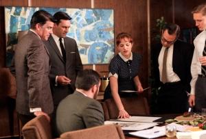 Mad Men - Season 2, episode 201 Elisabeth Moss as Peggy Olson courtesy AMC